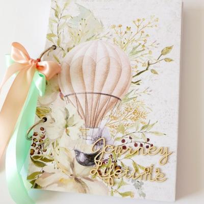 zápisník s balónom