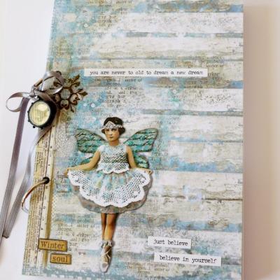zápisník s vílou