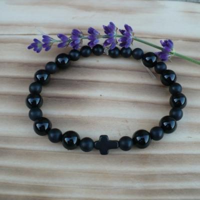 pánsky náramok (ruženec) z Onyxu čierneho