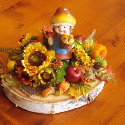 Jesenná dekorácia s