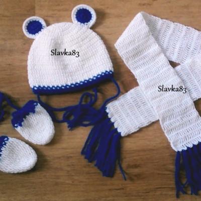 Čiapka ,šál + rukavičky