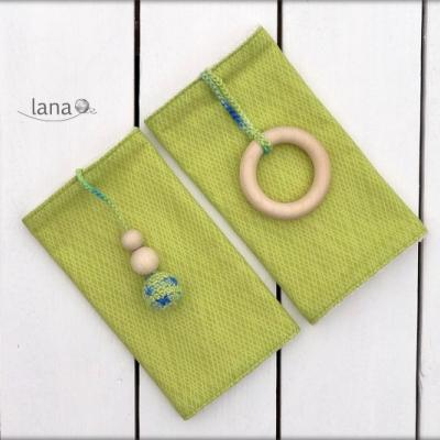 Slintáčiky zelený harlekýn - návleky na ergonomický nosič