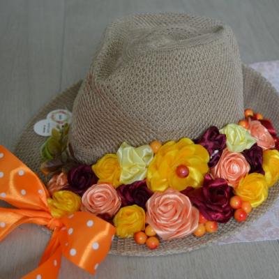 Jesenný dekoračný klobúk na dvere