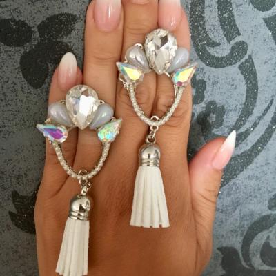 Strapcové náušnice - Glittering beauties