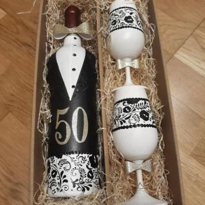 Darčeková fľaša k výročiu