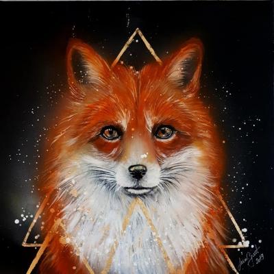 líška , portrét