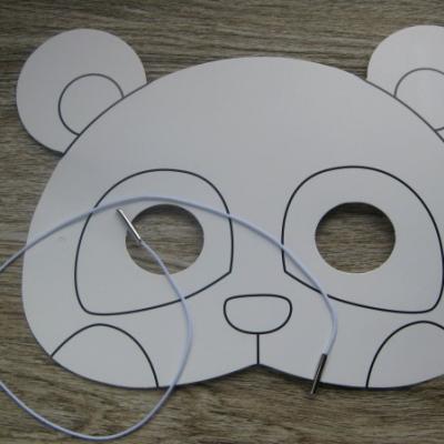 Kreatívna sada - vyrob si masku na tvár, 1 sada (PANDA)