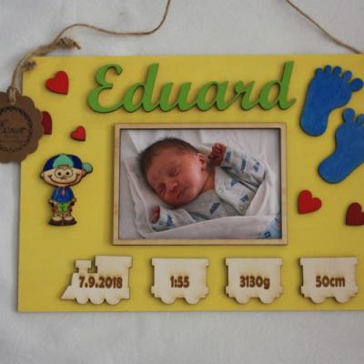 Tabuľka s údajmi o narodení