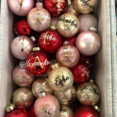 Vianočná guľa s menom 6cm