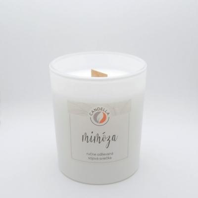 Mimóza - sójová sviečka (M)