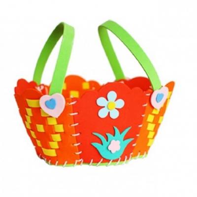 Kreatívna sada - uši a upleť si košíček, 1 sada (oranžový)
