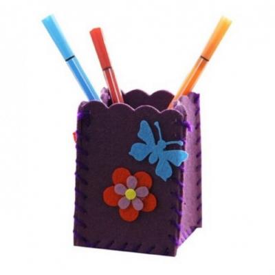 Kreatívna sada - uši si stojan na ceruzky, 1 sada (fialový)