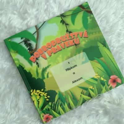 Personalizovaná knižka pre deti: Dobrodružstvá v praveku