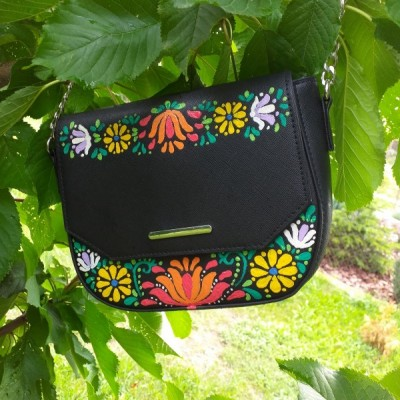 Ručne maľovaná kabelka