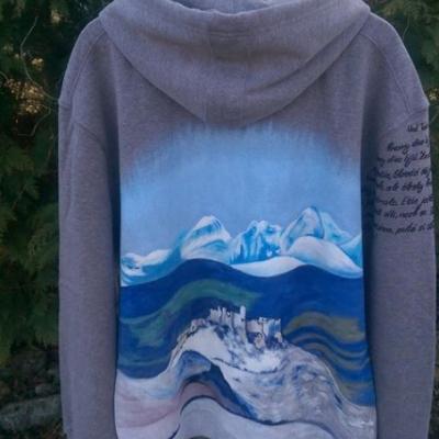 Sivá mikina na zips s kapuňou-Spišský hrad, Hymna