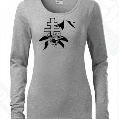 Dámske tričko s dlhým rukávom-DAMIdizajn