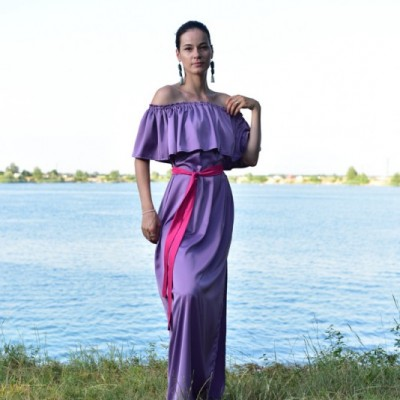 Zrelá Levanduľa - Volánové šaty