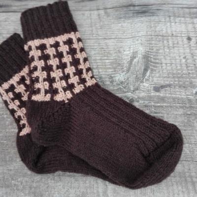 Ručne pletené ponožky - papučky