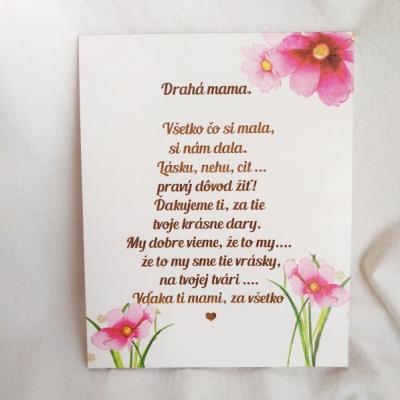 Tabuľka pre mamičku