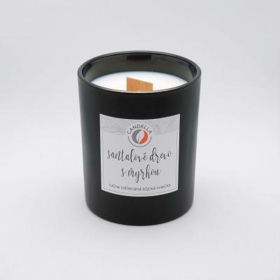 Santalové drevo s myrhou - sójová sviečka (M)