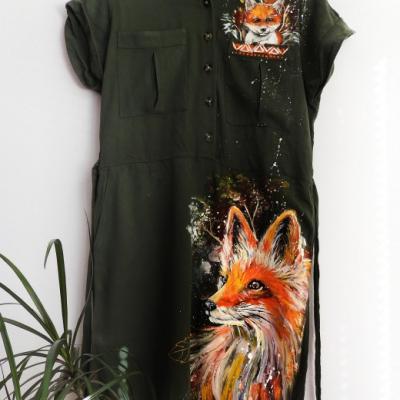 šaty s líškou