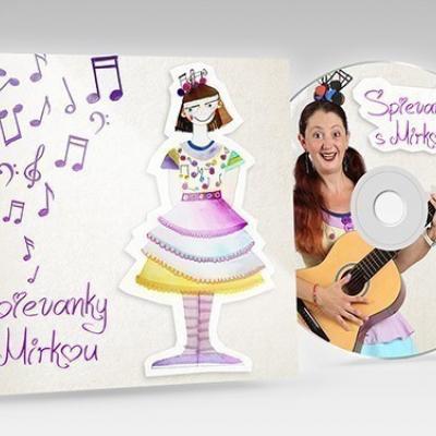 1. vlastné autorské CD - Spievanky s Mirkou