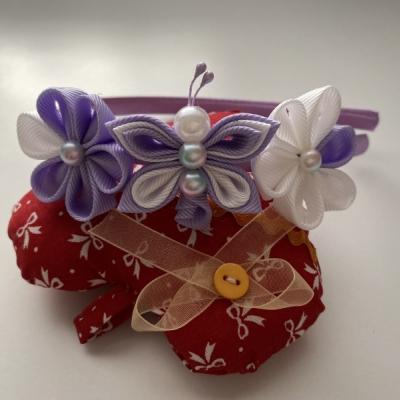 Čelenka malý motýlik- svetlo fialová