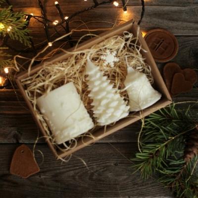 Sada vianočných sviec * bez vône *  V DARČEKOVOM BALENÍ