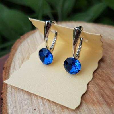 Náušnice Trblietané modre