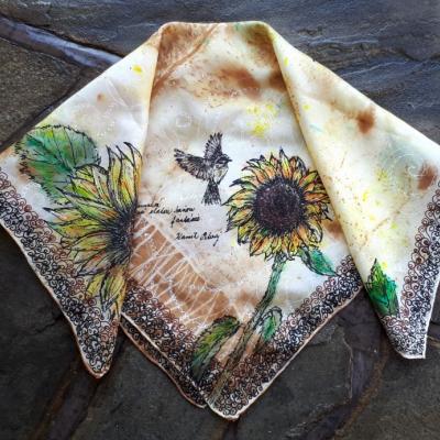 Esencie jesene-hodvábna maľovaná šatka