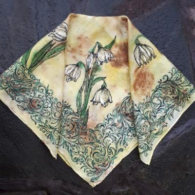 Esencie jari-hodvábna maľovaná šatka