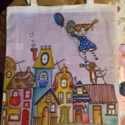 Na textil maľované
