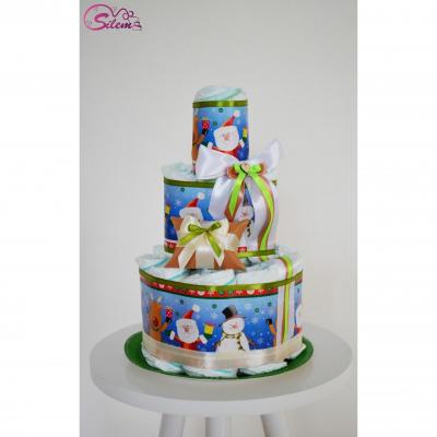Vianočná plienková tort