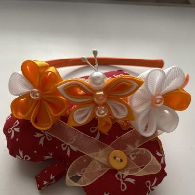Čelenka malý motýlik-oranžová