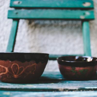 Folklárne keramické misky