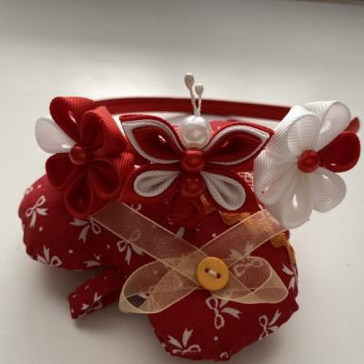 Čelenka malý motýlik- červená