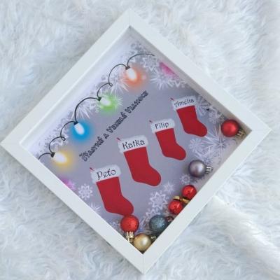 Shadowbox - VIANOCE Vianočné ponožky