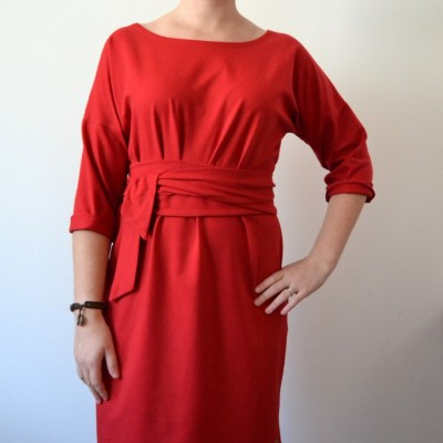 Červené šaty Alica