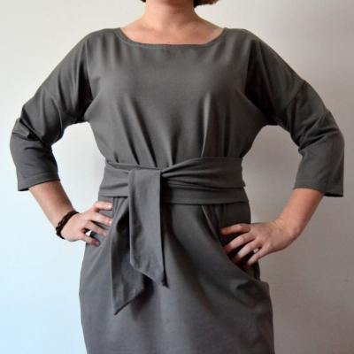 Sivé šaty Alica