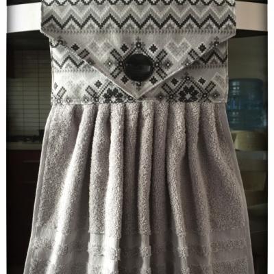 Kuchynský uterák šedý - škandinávsky vzor
