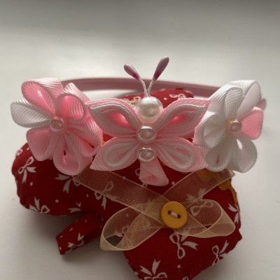 Čelenka malý motýlik-svetlo ružová