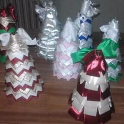 Patchwork vianočné stromčeky