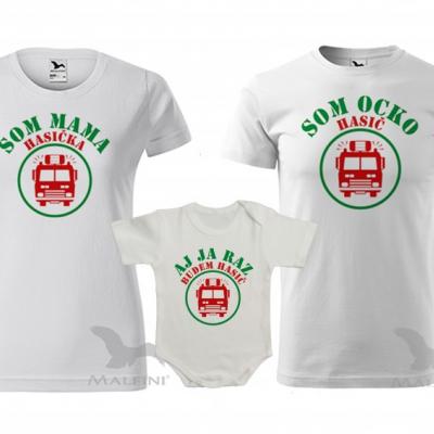 Hasičšské trička pre celú rodinu