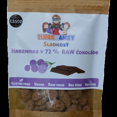 Hrozienka v  72% RAW čokoláde