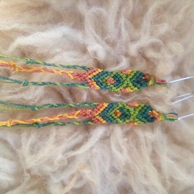 Náušnice pletené jesenné farby