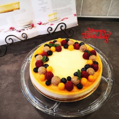 Vanilkový bezlepkový a bezlaktózový cheesecake