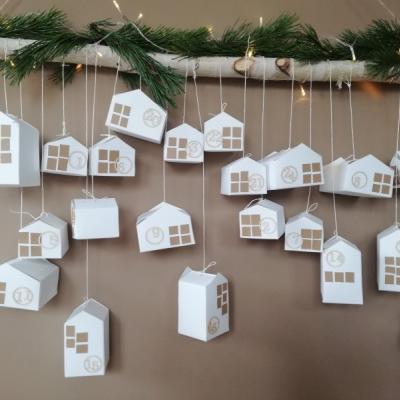 Set na výrobu adventného kalendára - malé domčeky