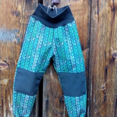 Detské softshellové nohavice.