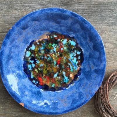 Keramická miska pestrofarebná