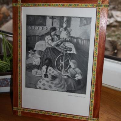 Folkový rámik na fotku - 21x30